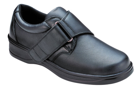 Orthofeet 810 Acadia Women's Comfort Shoe Black | Diabetic Shoes