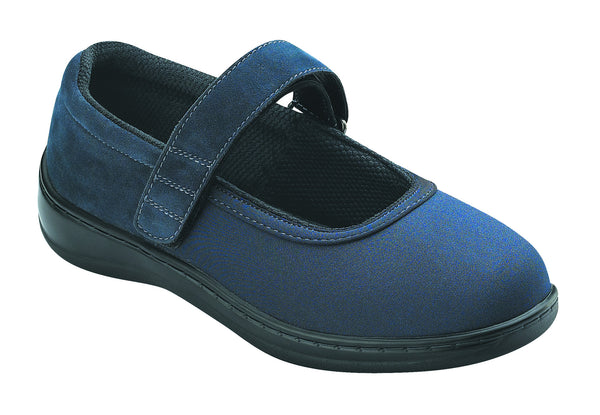 Orthofeet 826 Springfield Women's Navy Mary Jane Shoe | Diabetic Shoes