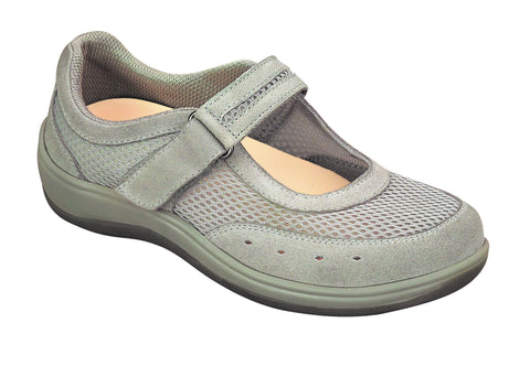 Orthofeet 851 Chattanooga Women's Black Mesh Mary Jane | Diabetic Shoes