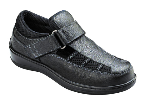 Orthofeet 871 Women's Black Casual Shoe | Diabetic Shoes