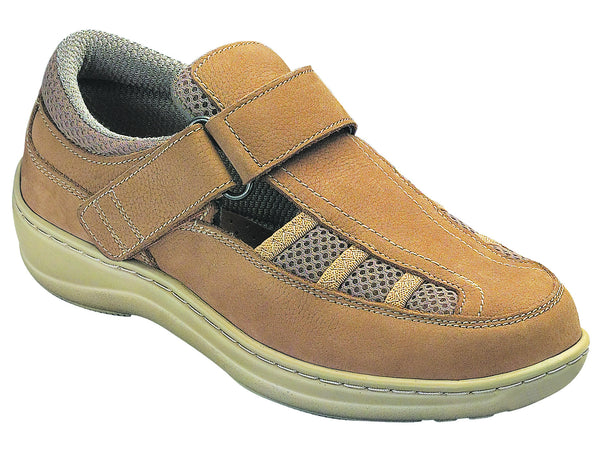 Orthofeet 872 Women's Casual Tan Shoe | Diabetic Shoes