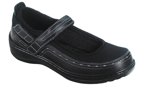 Orthofeet 877 Women's Black Casual Shoe | Diabetic Shoes