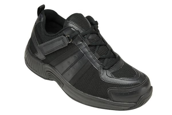 Orthofeet 911 Women's Sport Shoe Black | Diabetic Shoes | Orthopedic Shoes