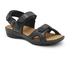 Dr. Comfort Black Greg Men's Sandal | Orthopedic Shoe