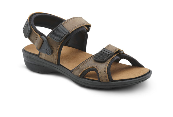 Dr. Comfort Brown Greg Men's Sandal | Orthopedic Shoe