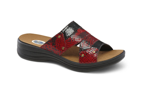 Dr. Comfort Red Karen Women's Sandal | Orthopedic Shoe