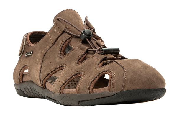 Coffee Propet M0603 Sullivan Men's Shoe- Diabetic Shoes