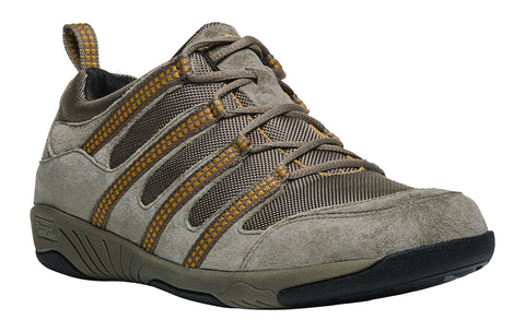 Gunsmoke/Gold Propet M0605 Jackson Men's Shoe -Diabetic Shoes