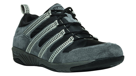 Pewter/Black Propet M0605 Jackson Men's Shoe -Diabetic Shoes