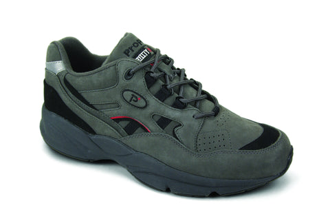 Grey/Black Nubuck Propet M2034 Stability Walker Men's Shoe- Diabetic Shoes