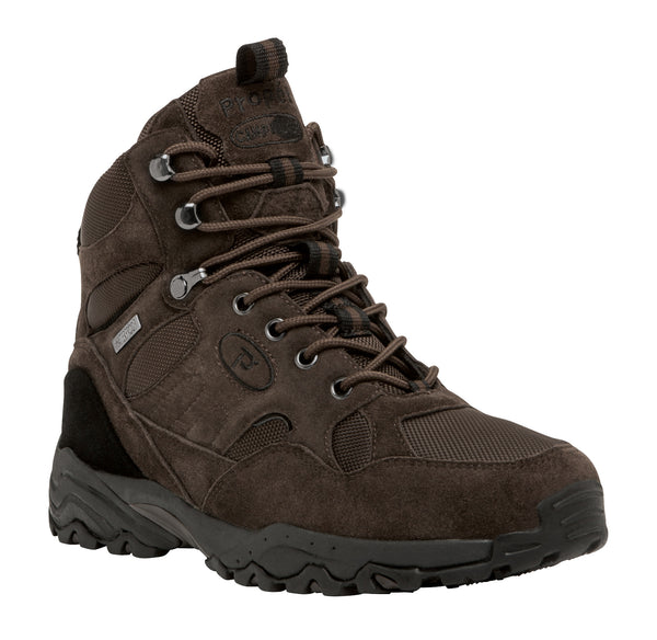 Brown Suede Propet M3589 Camp Walker Hi Men's Shoe- Diabetic Shoes