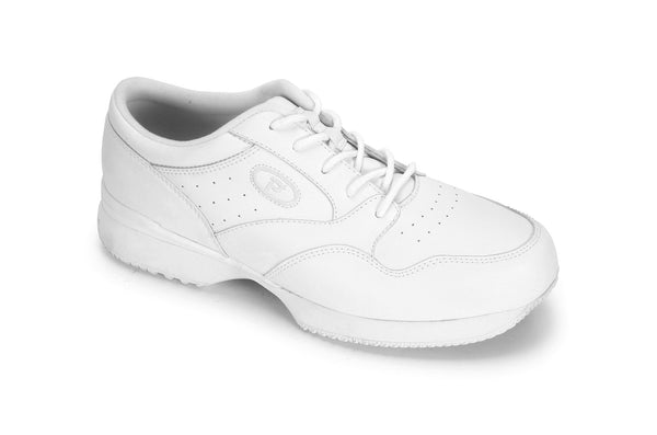 White Propet M3704 LifeWalker Men's Shoe- Diabetic Shoes