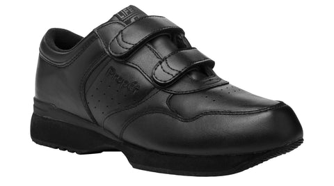 Black Propet M3705 LifeWalker Men's Shoe (Hook-and-Loop)- Diabetic Shoes
