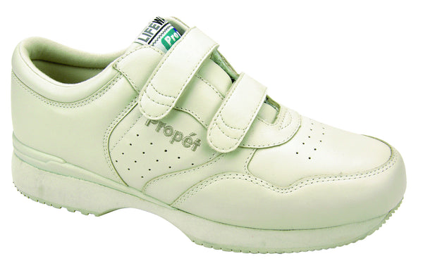 Sport White Propet M3705 LifeWalker Men's Shoe (Hook-and-Loop)- Diabetic Shoes