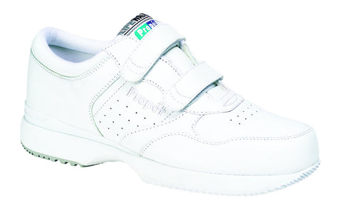 White Propet M3705 LifeWalker Men's Shoe (Hook-and-Loop)- Diabetic Shoes