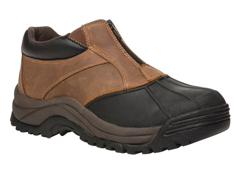 Brown/Black Propet M3786 Blizzard Ankle Zip Men's Shoe- Diabetic Shoes