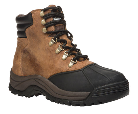 Brown/Black Propet M3789 Blizzard Mid Lace Men's Shoe- Diabetic Shoes