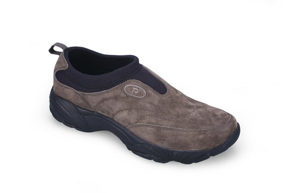 Gunsmoke/Blk Propet M3850 Wash & Wear Slip-On II Suede Men's Shoe- Diabetic Shoes