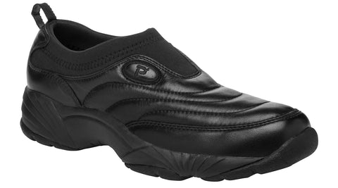 Black Propet M3851 Wash & Wear Slip-On II Men's Shoe- Diabetic Shoes