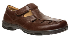 Rich Brown Propet M4114 Lakeport Men's Shoe- Diabetic Shoes
