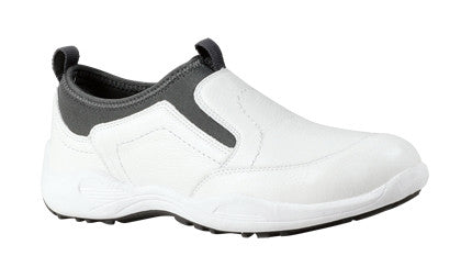 White Propet M4404 Wash & Wear Pro Slip-on Men's Shoe- Diabetic Shoes