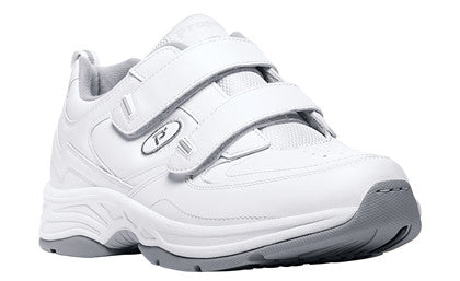 White Propet M5500 Warner Men's Shoe (Hook and Loop)- Diabetic Shoes