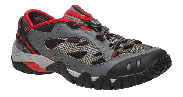 Black/Grey/Red Propet M6206 Endurance Men's Shoe- Diabetic Shoes