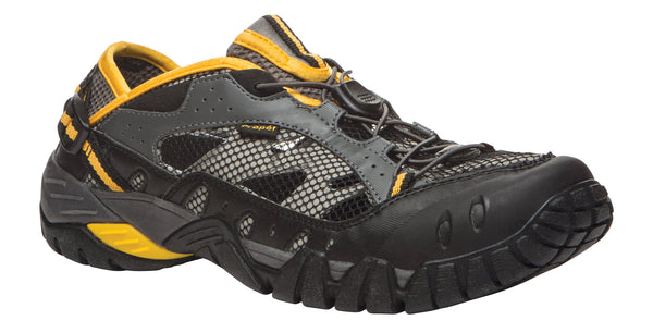 Black/Grey/Yellow Propet M6206 Endurance Men's Shoe- Diabetic Shoes