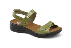 Dr. Comfort Peanut Green Women's Sandal (Velcro)| Diabetic Shoes | Orthopedic Shoe
