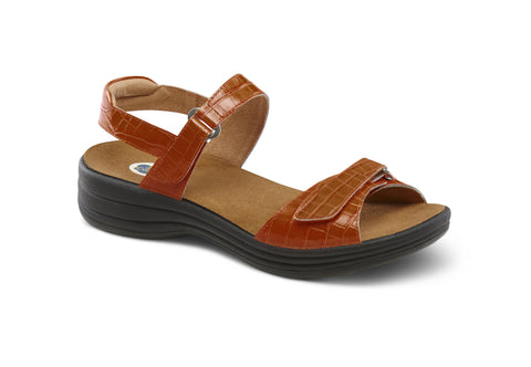 Dr. Comfort Peanut Rachel Women's Sandal (Velcro)| Diabetic Shoes | Orthopedic Shoe
