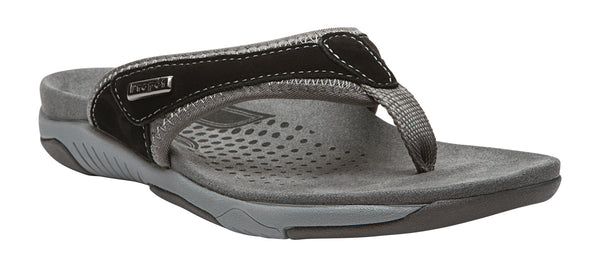 Black/Silver Propet W0600 Hartley Women's Shoe- Diabetic Shoes