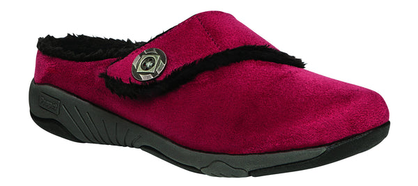 Red Velour Propet W0615 Morgan Women's Shoe -Diabetic Shoes