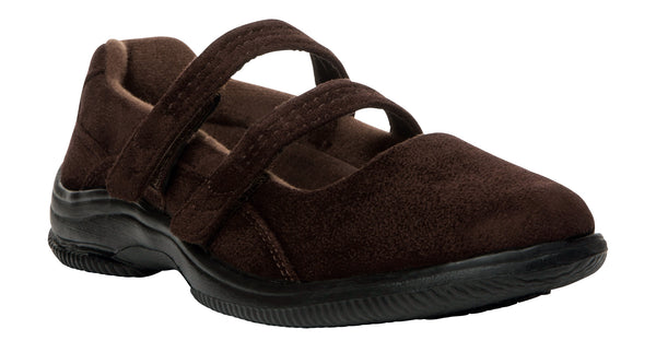 Brown Velour Propet W1037 Bilite Women's Shoe- Diabetic Shoes