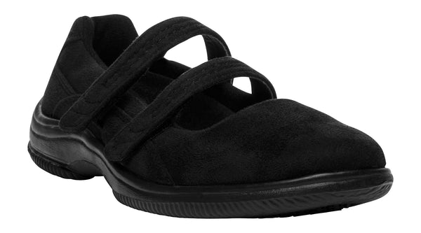Black Velour Propet W1037 Bilite Women's Shoe- Diabetic Shoes