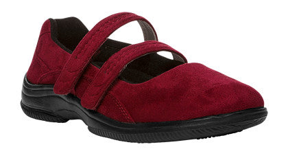 Red Velour Propet W1037 Bilite Women's Shoe- Diabetic Shoes
