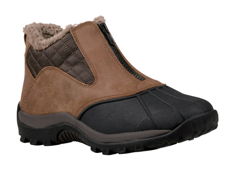 Dark Brown Propet W3189 Blizzard Ankle Zip Women's Shoe- Diabetic Shoes