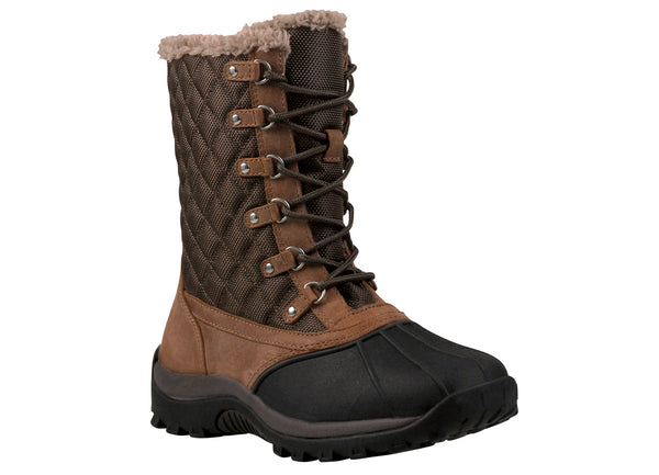 Dark Brown Propet W3190 Blizzard Mid Lace Women's Shoe- Diabetic Shoes