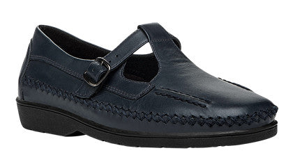 Navy Propet W3205 Café Women's Shoe- Diabetic Shoes