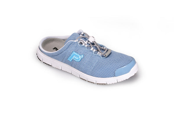 Lt Blue Mesh Propet W3230 TravelWalker Slide Women's Shoe- Diabetic Shoes