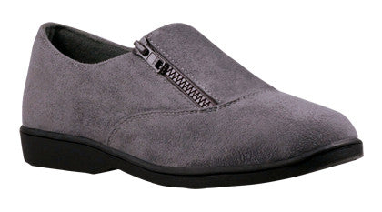 Grey Velour Propet W3240 Shannon Women's Shoe- Diabetic Shoes