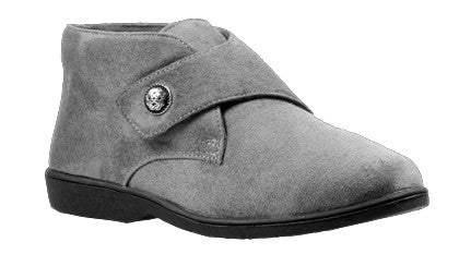 Grey Velour Propet W3241 Sonia Women's Shoe- Diabetic Shoes