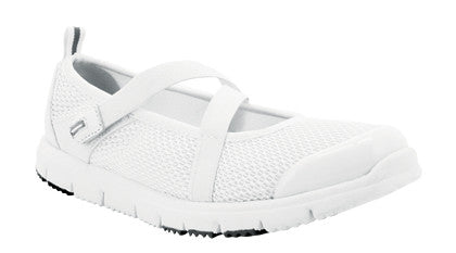 White Propet W3242 TravelWalker Mary Jane Women's Shoe- Diabetic Shoes