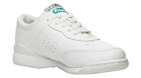 White Propet W3804 Life Walker Women's Shoe- Diabetic Shoes