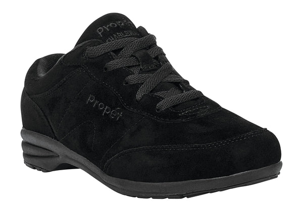 Black Suede Propet W3841 Washable Walker Suede Women's Shoe- Diabetic Shoes
