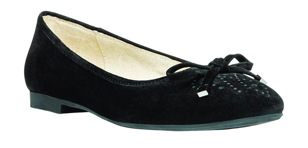 Black Suede Propet W8100 Emma Women's Shoe -Diabetic Shoes