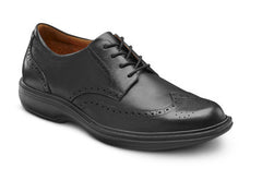 Dr. Comfort Black Wing Men's Dress Shoe | Diabetic Shoes | Orthopedic Shoe