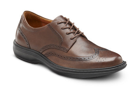 Dr. Comfort Chestnut Wing Men's Dress Shoe | Diabetic Shoes | Orthopedic Shoe