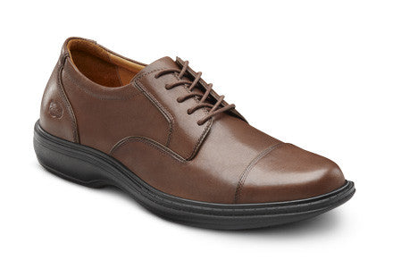 Dr. Comfort Chestnut Captain Men's Shoe | Diabetic Shoes | Orthopedic Shoe