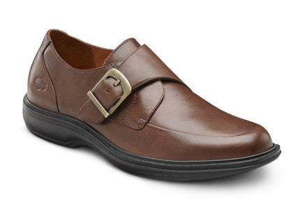 Dr. Comfort Chestnut Leader Men's Dress Shoe | Diabetic Shoes | Orthopedic Shoe