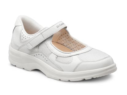 Dr. Comfort White Susie Women's Casual Shoe (Velcro) | Diabetic Shoes | Orthopedic Shoe